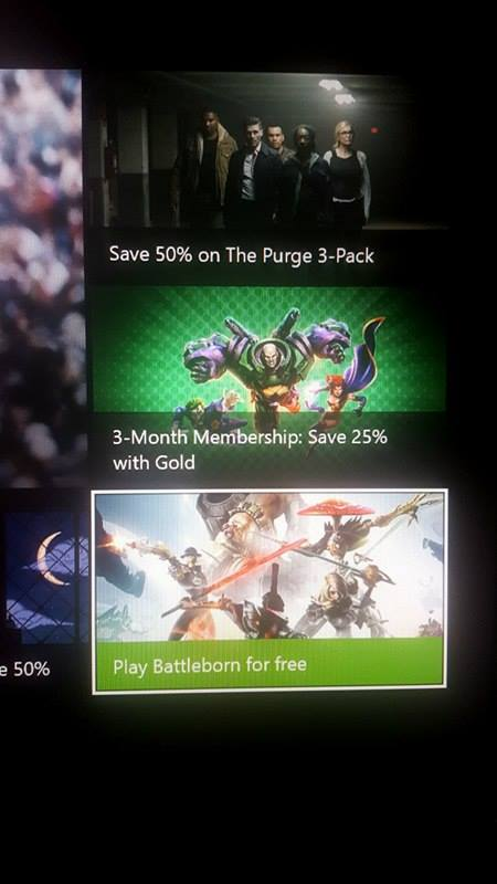 Battleborn Free to Play Xbox ad banner