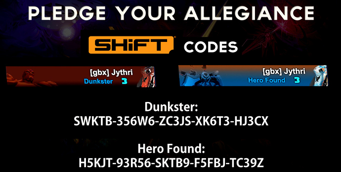 Battleborn esports team shift codes