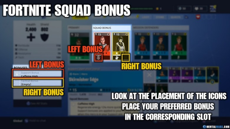 Fortnite How to Get Squad Bonus Skills
