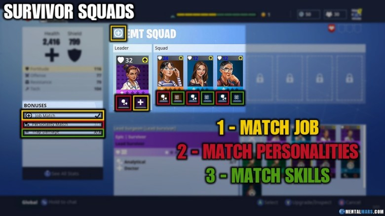 Fortnite survivor squads explained