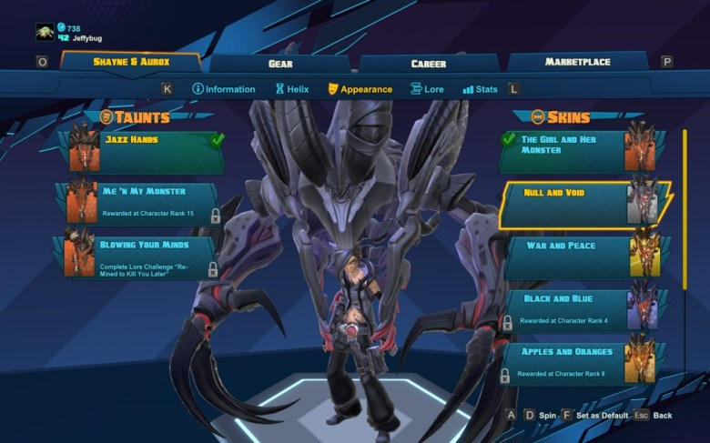 "Shayne and Aurox's ""Null and Void"" skin - Battleborn"