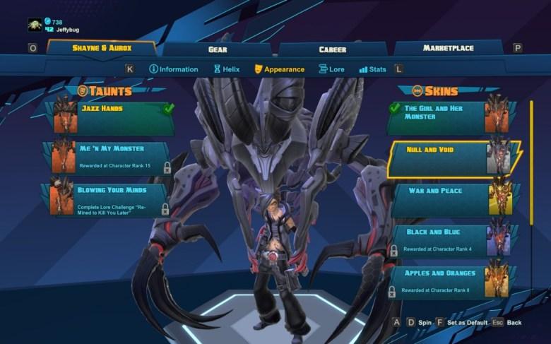 "Shayne and Aurox's ""Null and Void"" skin - Battleborn"