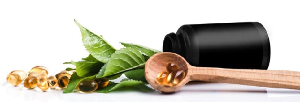 An assortment of natural supplements