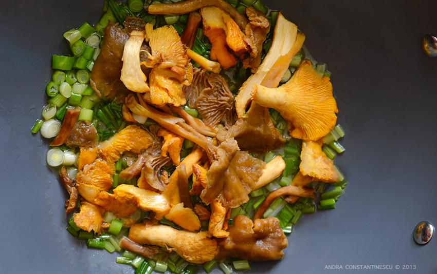 Risotto cu leurda si ciuperci de padure