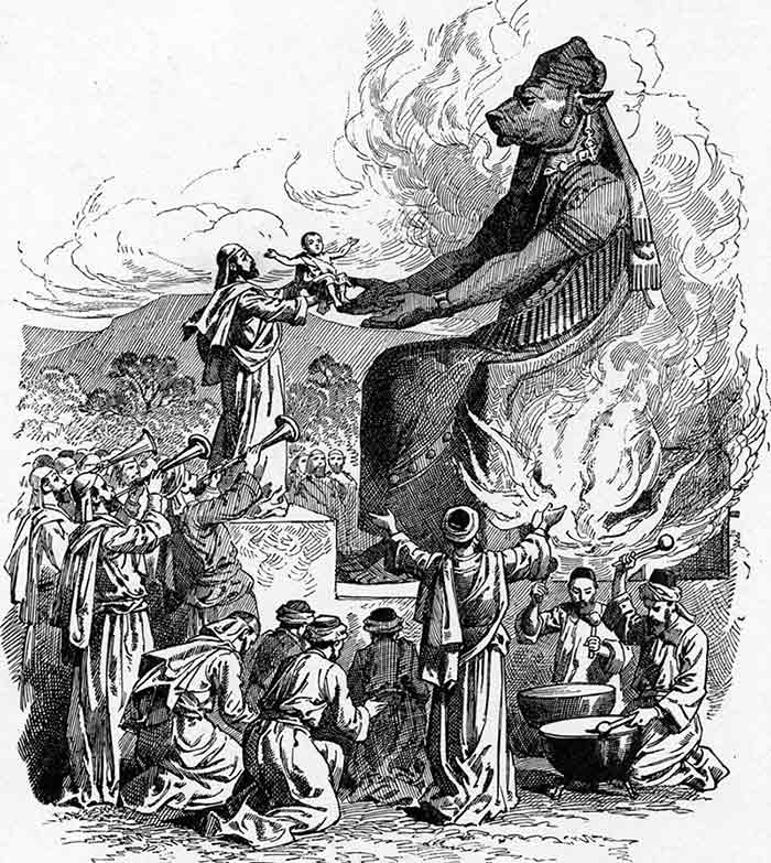 sacrificio ritual infantil israel