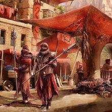 I ricchissimi mercati di Umbar, presidiati da guardie Haradrim