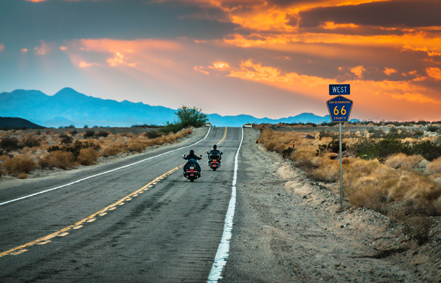 Sky Noir Photography by Bill Dickinson Route 66 Riders