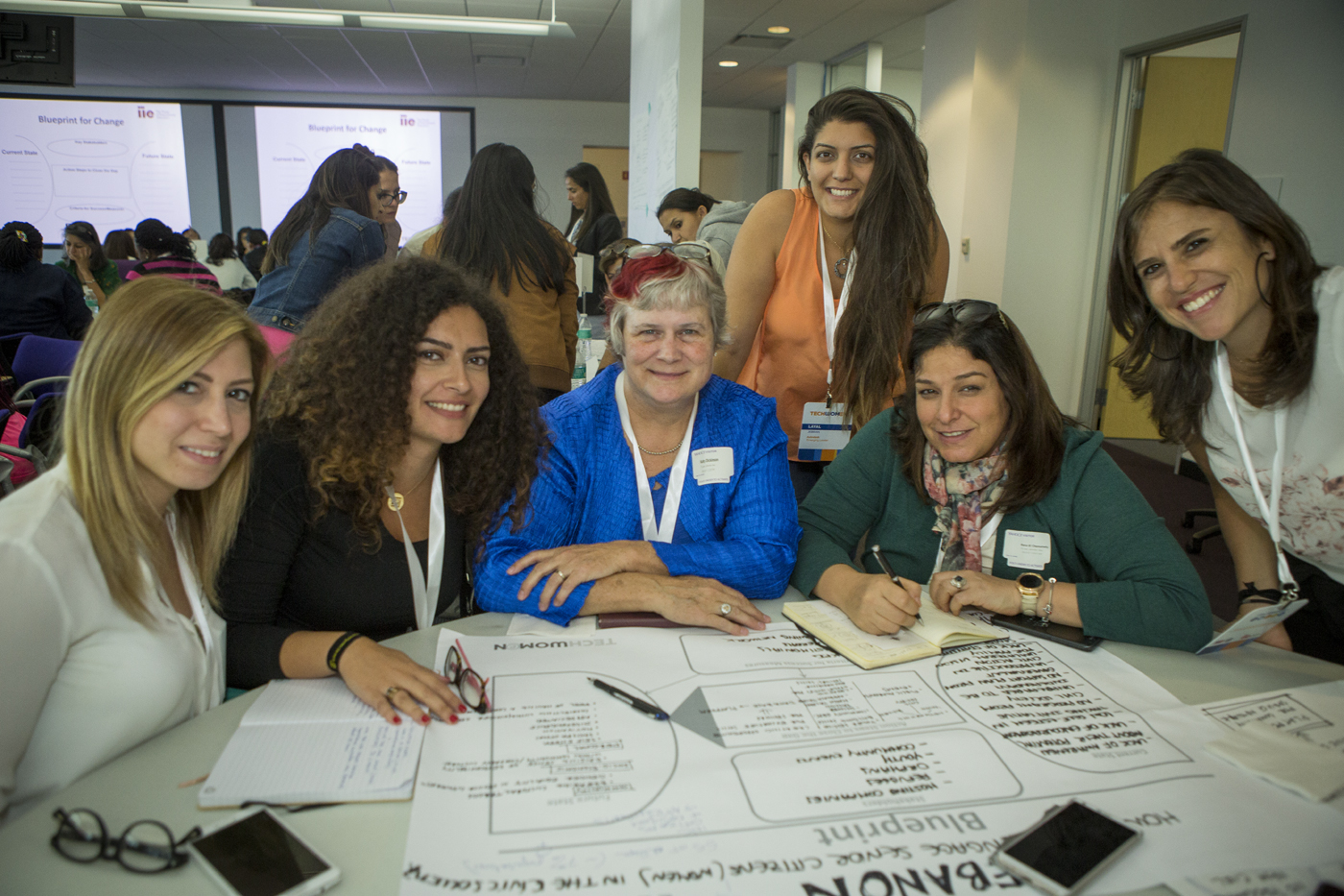 TechWomen Team Lebanon Action Plan Workshop 30 Sep 2017, photo by Saul Bromberger for TechWomen