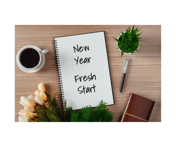 An image of a new year 'fresh start' resolution