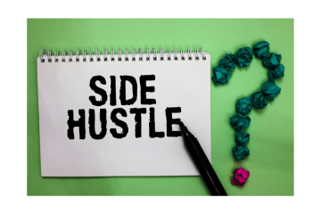 An image of side hustle written on a notebook