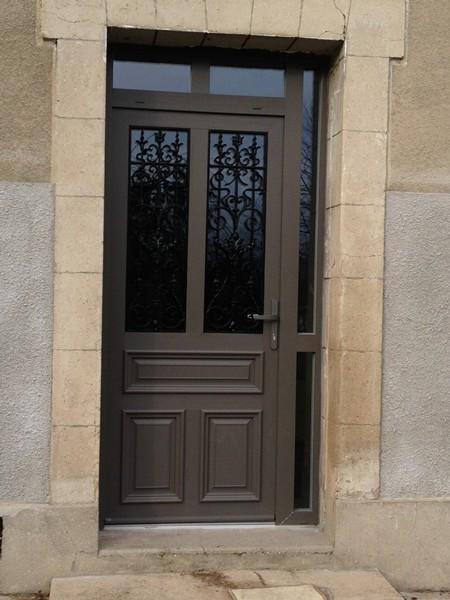 Porte Entre Aluminium Sur Mesure Menuiserie Image Et