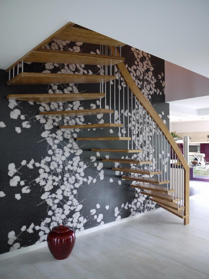 Escalier Suspendu VIVA Escaliers Contemporains En Bois