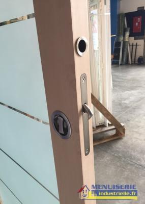 kit serrure a condamnation pour portes coulissantes inox brosse