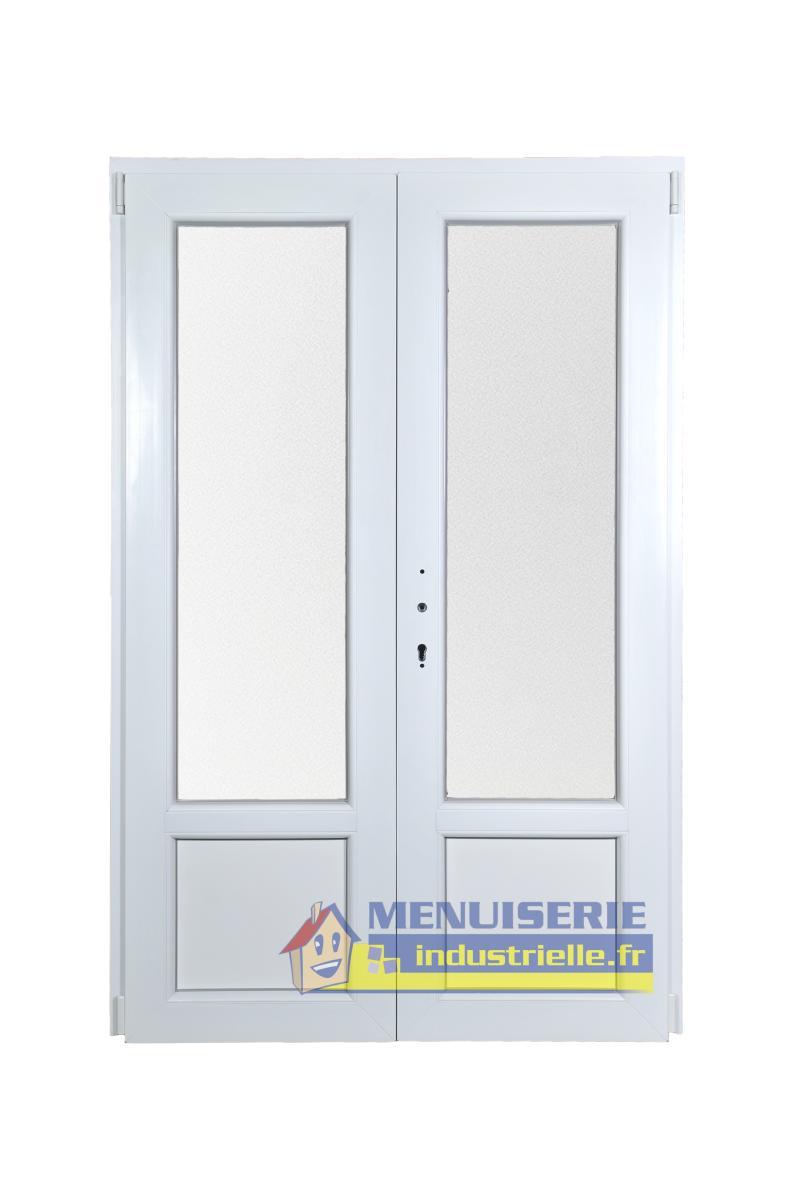 porte fenetre pvc 2 vantaux ht 205 x lg 120cm