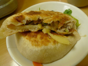 Lamb Pie from Beijing Pie House. Photo by Ron Dollete