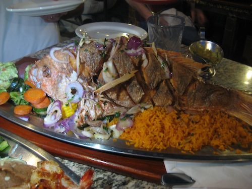 Whole Snapper at El Barco. Photos by Jeff Pearl.