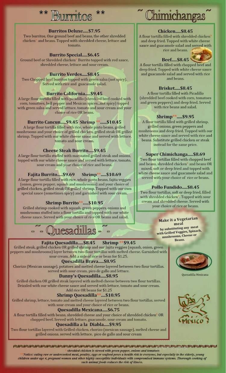 Online Menu Of No Way Jose S Mexican Restaurant China Grove Nc