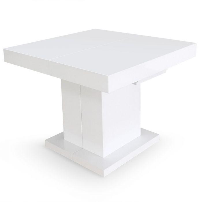 mustang ausziehbarer tisch weiss