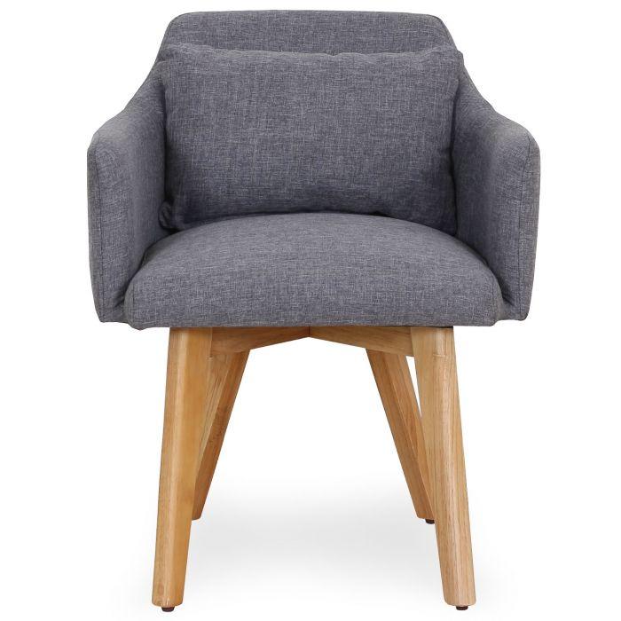 gybson skandinavischer stuhl sessel mit stoffbezug hellgrau
