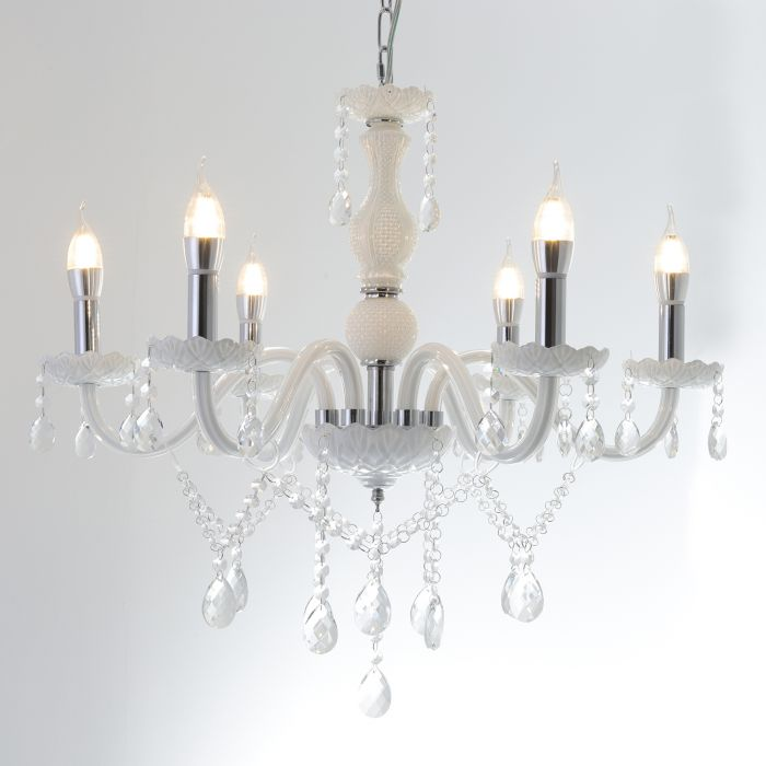 suspension lustre palmyre blanc
