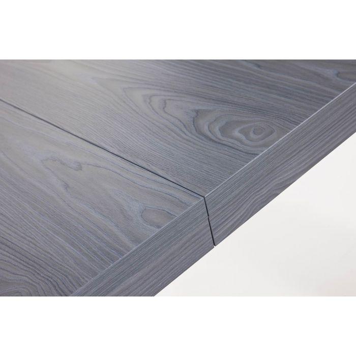 table console extensible ariel xl laquee gris chene gris