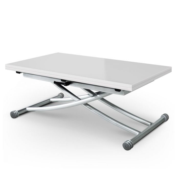 table basse relevable carrera blanc laque