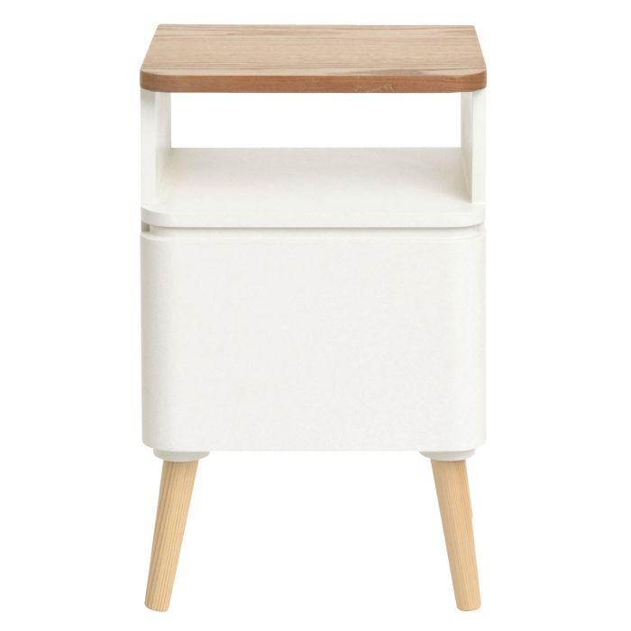 table de chevet scandinave bergen blanc et bois