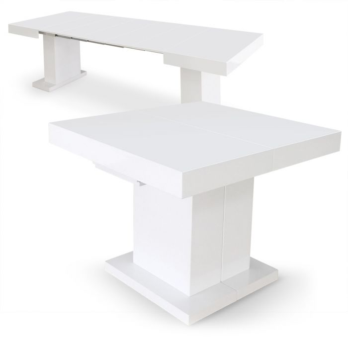 Table Extensible Mustang Blanc Laque
