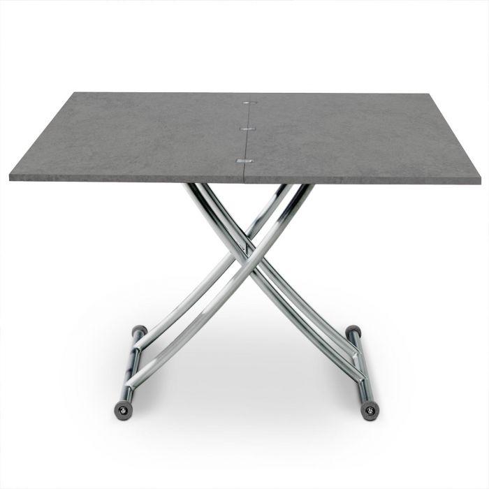 table basse relevable carrera effet beton