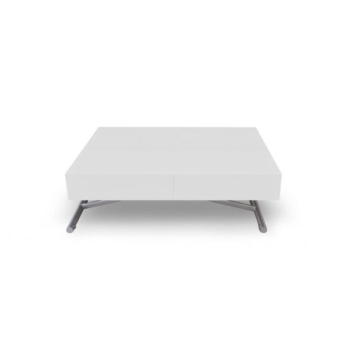 table basse relevable sundance blanc laque