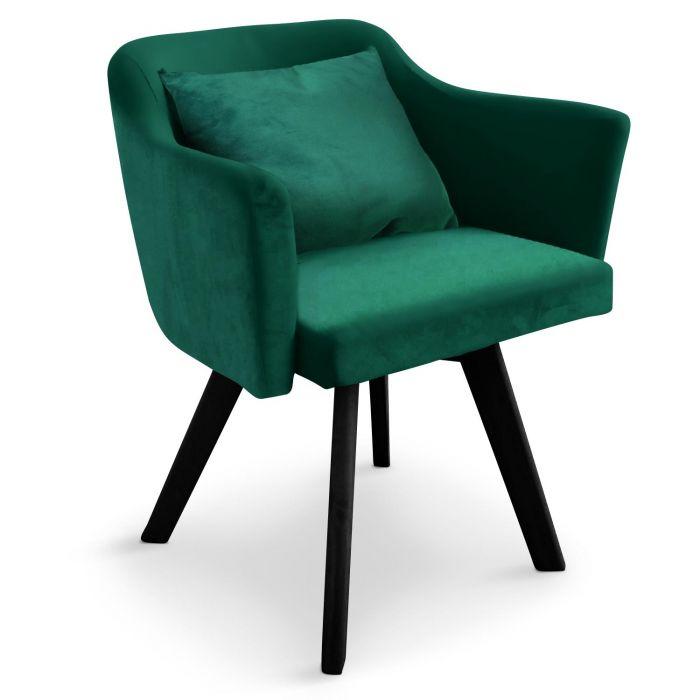 lot de 20 fauteuils scandinave dantes velours vert