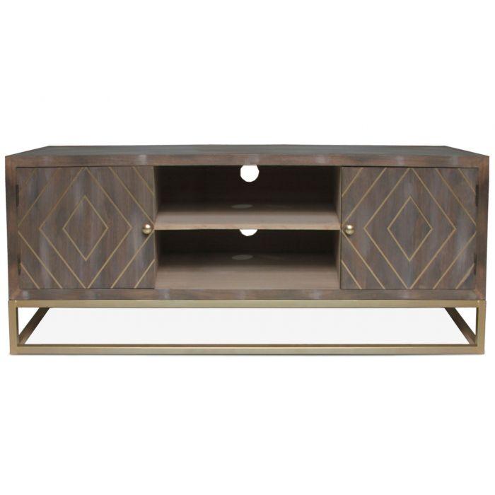 meuble tv lipnia bois vintage