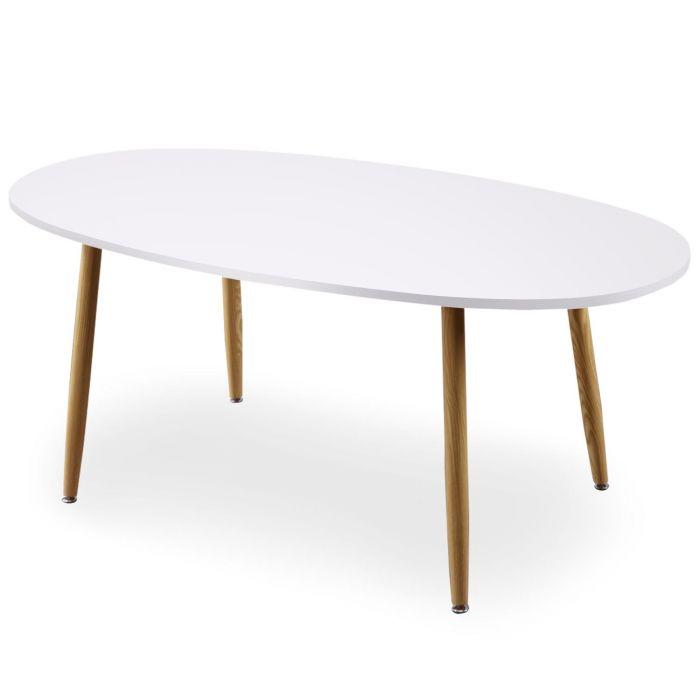 table ovale scandinave nolane blanc
