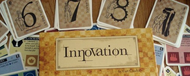 Just when you thought that every way to play with cards had been published somewhere already, along comes a game like Innovation. With some - dare I use the word - innovative game mechanics and many ways to make sabotage your opponents' strategy, you probably haven't played a card game quite like this one before.