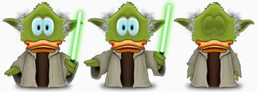 Yoda Duck Adium icon set
