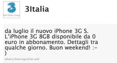 iPhone con H3G Italia