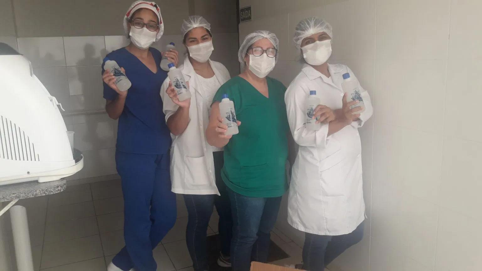 Hospital e Maternidade Anchieta recebe doação de álcool em gel