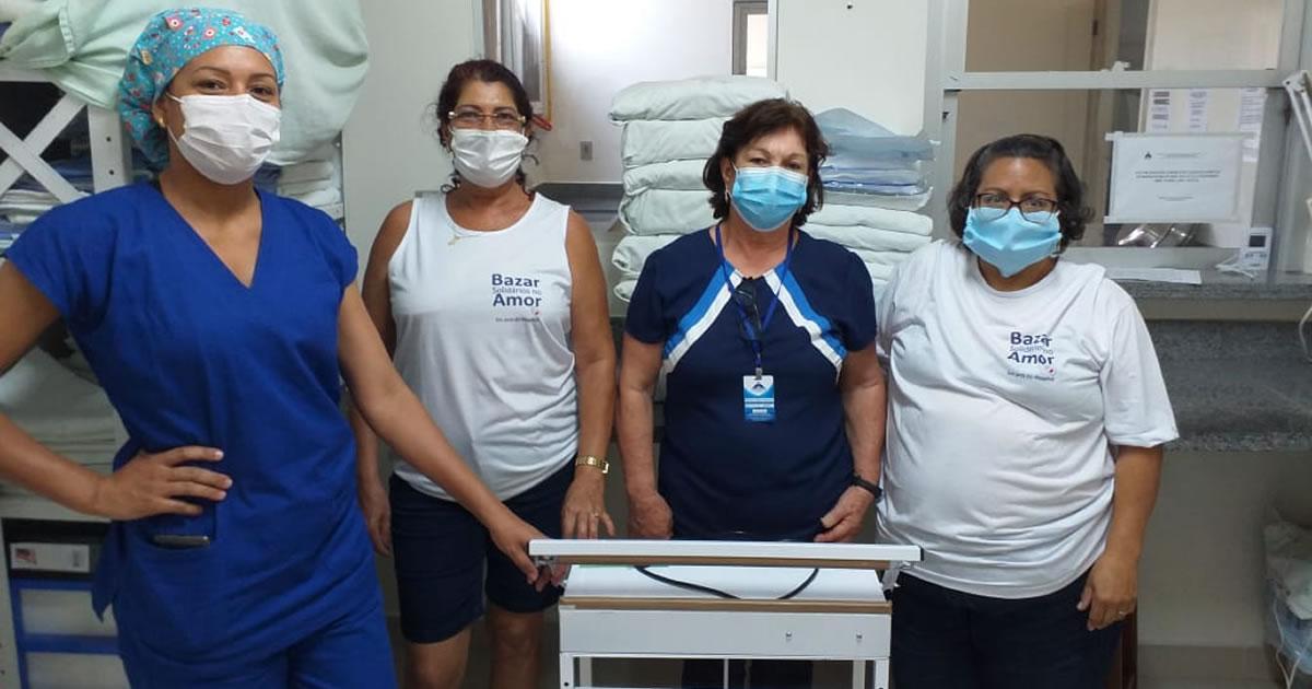 Bazar Solidários no Amor contribui na aquisição de uma seladora para o Hospital