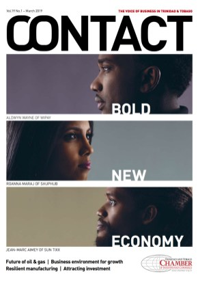 The cover of the March 2019 issue of Contact Business Magazine on diversification