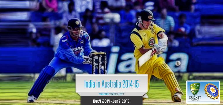 India Australia test Series December 2014