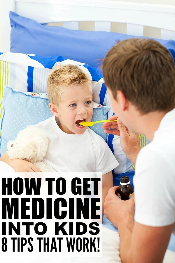 Want to know how to get your child to take medicine? We've got 8 fabulous parenting tips and tricks to help you get through cold and flu season with kids without tantrums and the loss of your sanity when the medicine dropper comes out. Tip 8 was a lifesaver to me when my daughter had an ear infection 2 years ago, and her favorite stuffed animals make tip 3 work pretty well now that she's older!