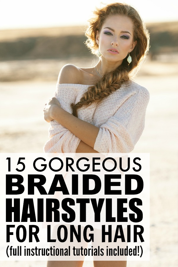 Braided hairstyles are all the rage these days, and that's why we've rounded up this collection of easy braided hair tutorials for long hair. Perfect for prom and for weddings (and even for school!), these simple updos will make your locks look and feel amazing with minimal effort!