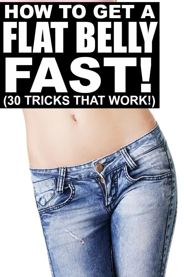If you desperately want to learn how to get a flat belly FAST, this collection of 30 tips is a great place to start. It's filled with fabulous recommendations on flat belly foods, tips to reduce bloat the day of a big event, and the best ab workouts for a flat stomach, all which you can do from the comfort of your own home. Good luck!