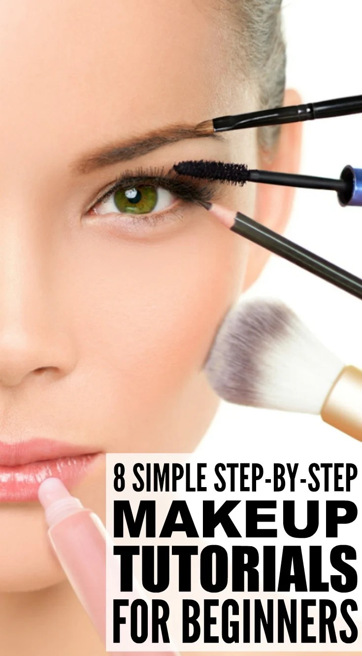 8 Step By Step Makeup Tutorials For Beginners: Full Face Makeup Tutorials Step By