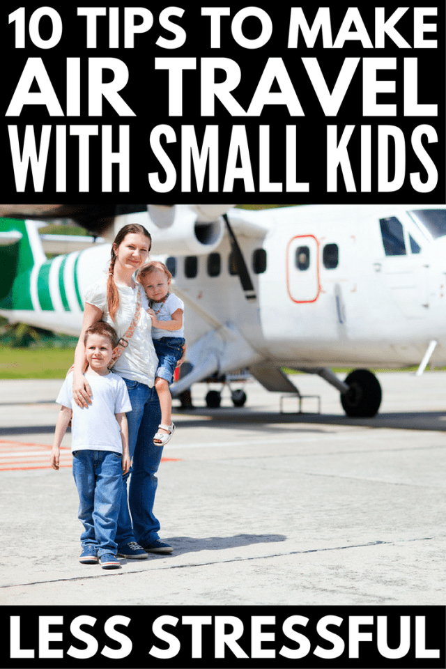 10 simple tips to make air travel with young kids easier | Whether you're flying with kids for the first time or just need packing lists and activities to keep your little ones entertained, have a short flight to Disney or a long international flight ahead of you, we've got you covered. We're sharing our best travel tips and hacks, what to pack in your carry on (hint: lots of snacks!), as well as the best travel toys for kids for long flights.