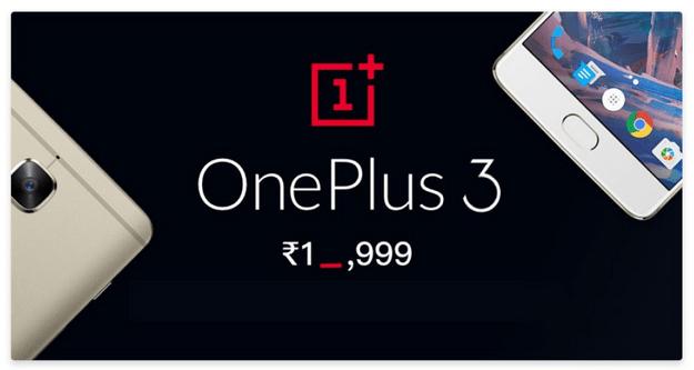 One Plus 3 Price Drop
