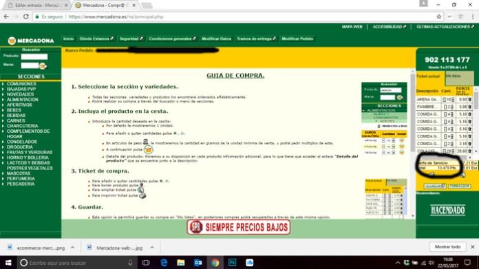 Mercadona pesetas web