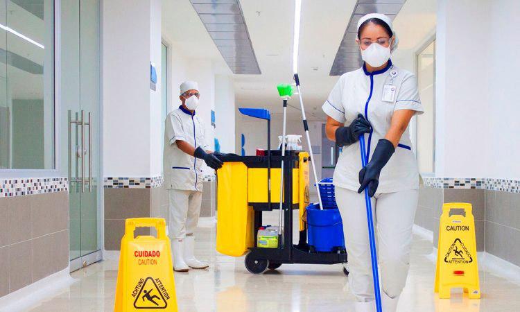 coronavirus personal sanitario limpieza