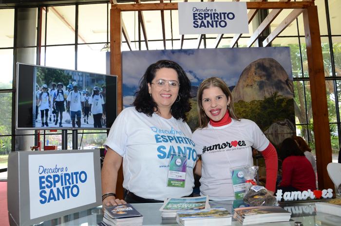 Carla Rezende e Camila Antunes, durante a Mostra Viajar 2017