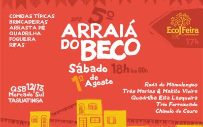 V Arraiá do Beco se une à EcoFeira do Mercado Sul